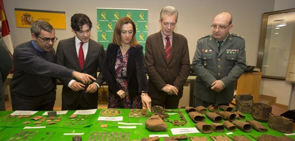 La Guardia Civil recupera 257 piezas arqueológicas expoliadas de diversos yacimientos del Valle del Tiétar