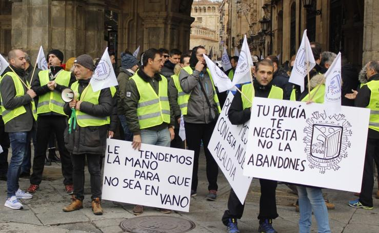 Protesta de la Policía Local de Salamanca