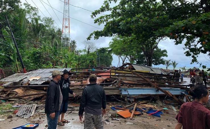 Las imágenes del tsunami en Indonesia