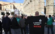 Trabajadores de la cárcel de Segovia se manifiestan para exigir más personal