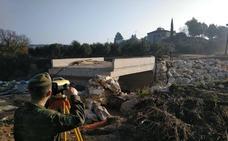 El REI 11 de Salamanca estudia los daños causados por un desbordamiento en Sevilla