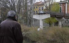 Retirada la pasarela sobre el río Duratón en Peñafiel