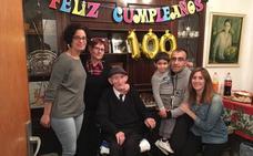El abuelo de Vallelado cumple un siglo de vida