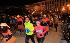 Mario Calvo y Águeda Muñoz reinan en la fiesta de la Carrera del Fin de Año de Segovia