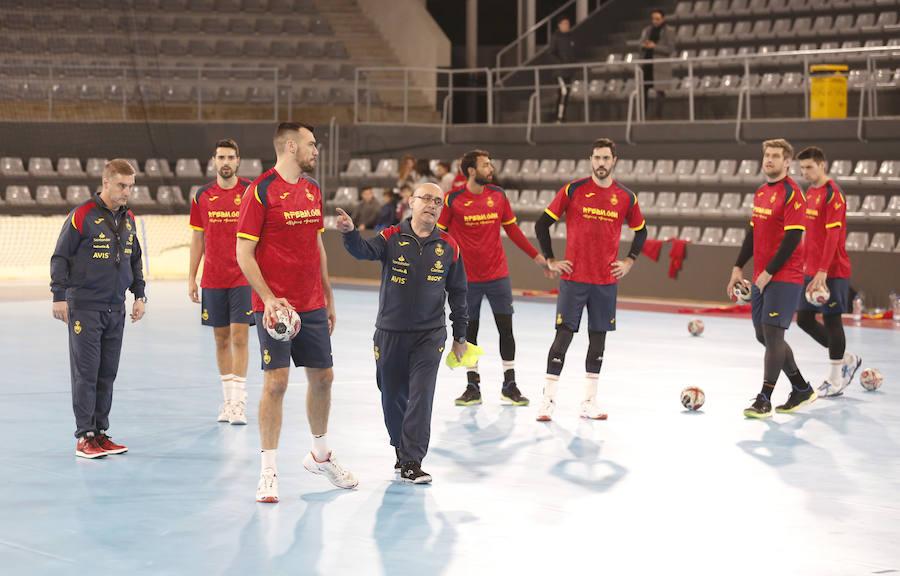 La Selección Española ya entrena en el pabellón