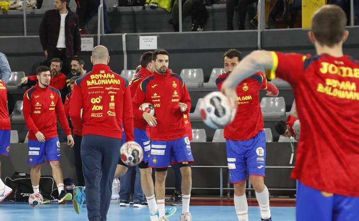 Palencia arropa a la selección española de balonmano (2/2)