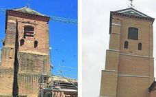 La iglesia de Santa María del Mercado de Mayorga luce su torre restaurada