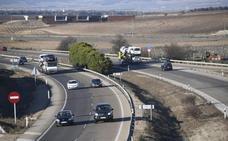 Atendida una mujer por un ataque de ansiedad tras sufrir un accidente en la A-62 en Valladolid
