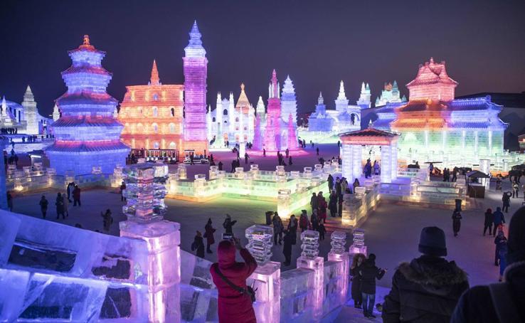 La espectacular ciudad de hielo de Harbin