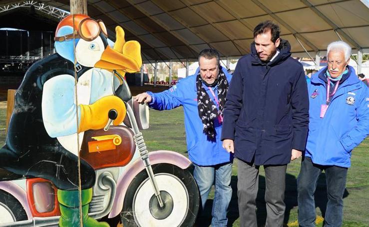 Óscar Puente visita las instalaciones de Pingüinos 2019