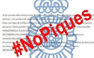 La Policía alerta de un nuevo virus que convoca a un interrogatorio por correo
