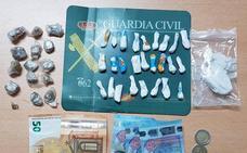 La Guardia Civil localiza 126 gramos de cocaína en un bar de la provincia de Palencia