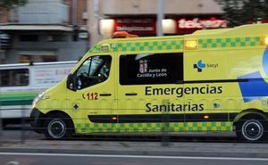 Herido un motorista al estrellarse contra un muro en Valladolid