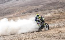 Santolino sufre una fuerte caída en la sexta etapa del Dakar y es evacuado en helicóptero