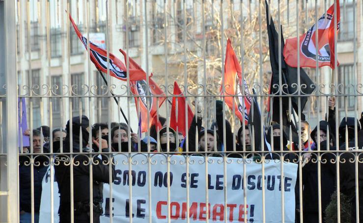 Protesta contra el acto de Vox en Segovia