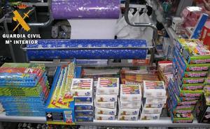 Denunciados cinco establecimientos de Palencia por la venta irregular de pirotecnia