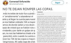 El 'zasca' de un restaurante de Zamora a un usuario que rompió copas
