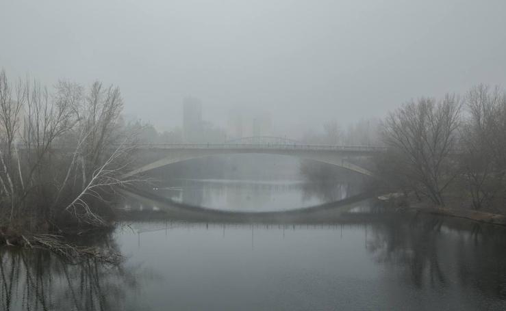 Jornada de intensa niebla en Valladolid