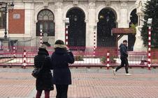 La nieve se asoma a Valladolid