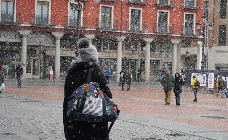 Nieva en Valladolid