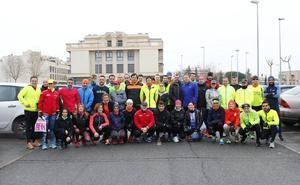Javier Alves protagoniza el primer entrenamiento para preparar la Media Maratón de Salamanca