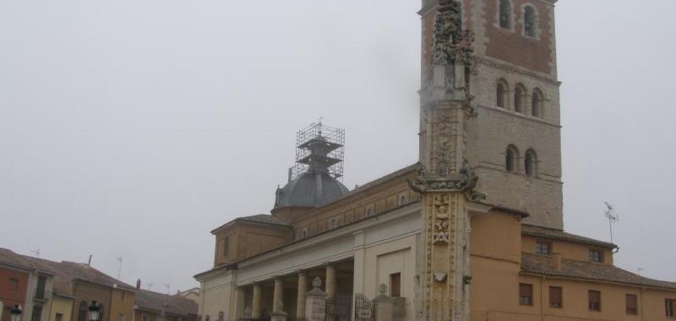 Arranca la restauración de la linterna de la cúpula de San Miguel en Villalón