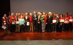 Cruz Roja de Palencia homenajea a sus socios y voluntarios