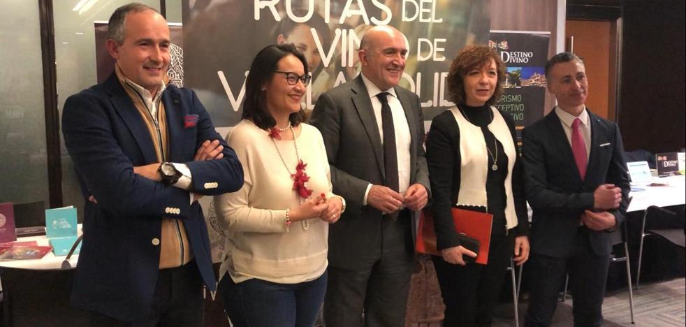 La Diputación de Valladolid y las Rutas del Vino de Cigales, Rueda y Ribera del Duero presentan la oferta enoturística de la provincia
