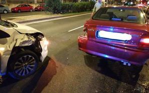 Un conductor da positivo por alcoholemia tras colisionar con otro turismo en Valladolid