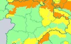 La alerta por nieve se mantiene en todas las provincias de Castilla y León salvo en Valladolid