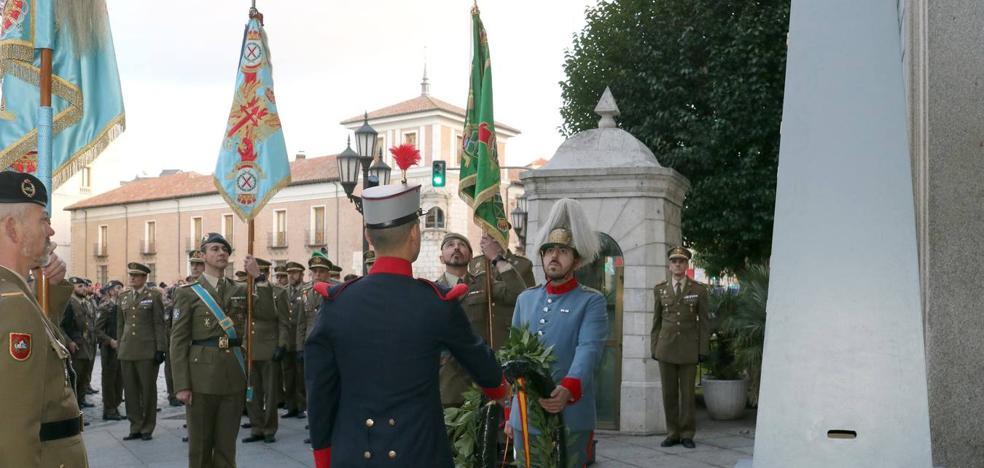 El Ejército de Tierra dedica su arriado solemne a los medios de comunicación de Valladolid y Palencia