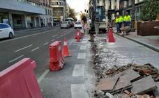 El Ayuntamiento de Valladolid aborda obras para modificar las paradas de autobús y taxi de la plaza de España