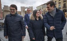Pablo Casado arropa al PP de Ávila y niega que exista ruptura en el partido provincial