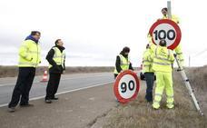 Salamanca finaliza la sustitución de las señales de 100 km/h en las carreteras nacionales