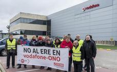 El 46% de la plantilla de Vodafone en Boecillo secundó el paro contra el ERE