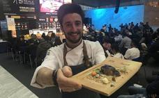 David Izquierdo triunfa en Madrid Fusión con el cuello del lechazo