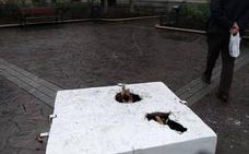 Destrozan una escultura de Xu Hongfei horas después de su inauguración