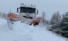 El temporal de nieve afecta a Sanabria