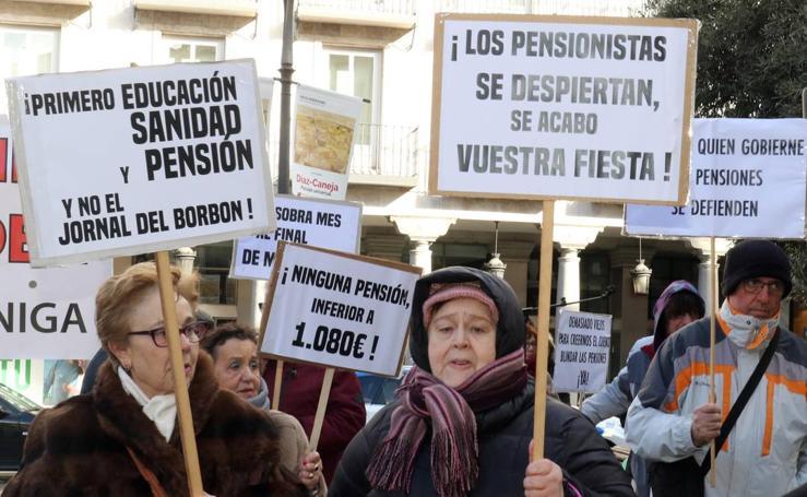 Manifestación en Valladolid por las pensiones