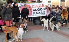 Animalistas exigen en Valladolid la prohibición de la caza con perro