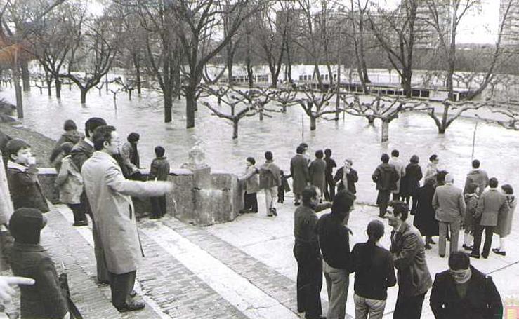 Crecidas históricas del río Pisuerga en Valladolid en los años 70