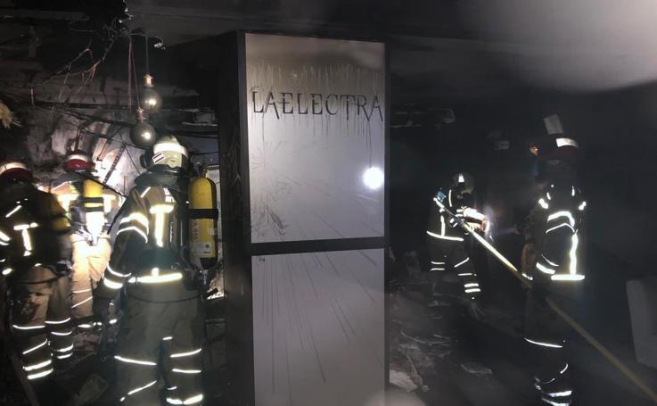 Incendio en la discoteca La Electra de la calle Gamazo de Valladolid