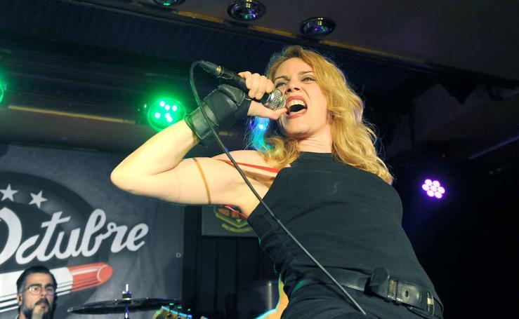 Miss Octubre, en la sala Porta Caelli de Valladolid