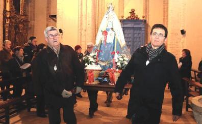 San Andrés acoge la celebración en honor de la Virgen de las Candelas en Cuéllar