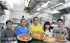 Grandes pizzas para pequeños cocineros