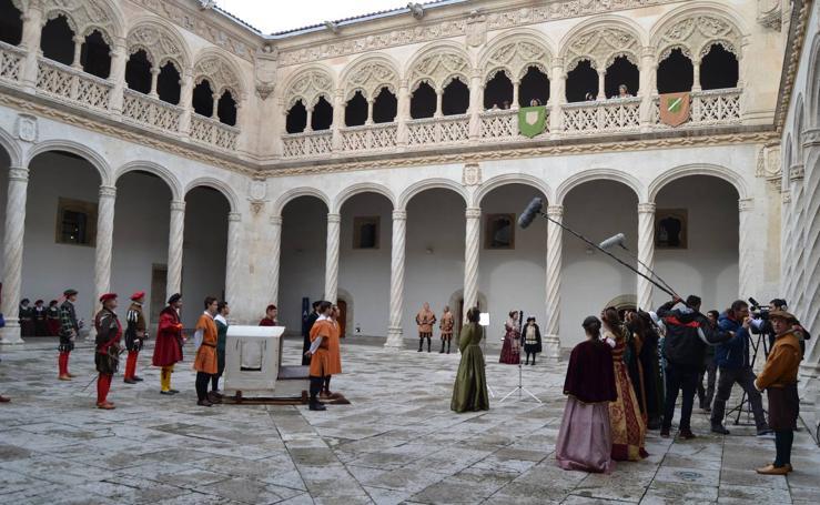 Rodaje de 'Carlos V. Los caminos del emperador' en Valladolid