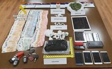 La Guardia Civil detiene a diez personas y acaba con una red que enviaba cocaína de Madrid a León