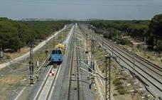 Adif inicia las pruebas para poner en servicio la duplicación de vía en el acceso sur a Valladolid