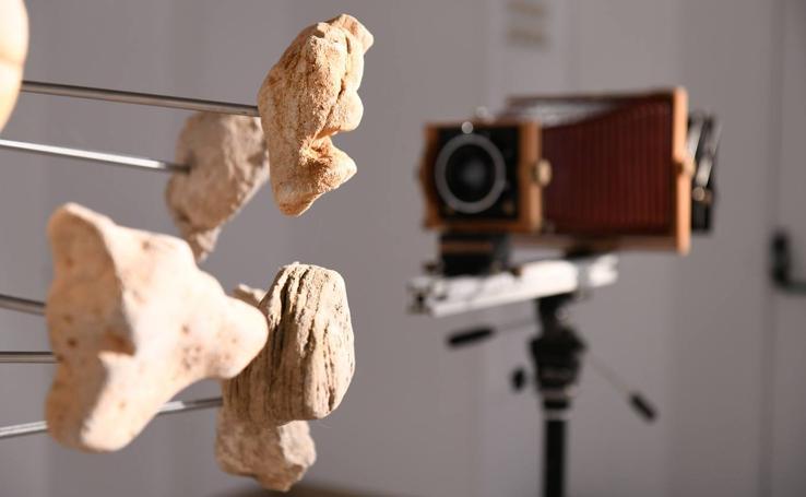 Exposición 'Piedras' del fotógrafo leonés Rafael Pablos en el Palacio Pimentel de Valladolid