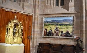 Capel se queda junto al restaurado sagrario de la colegiata de Aguilar